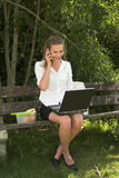 Pretty businesswoman; pleasure Royalty Free Stock Images