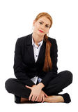 Pretty businesswoman relaxing Royalty Free Stock Photo