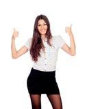 Pretty businesswoman saying Ok Stock Photo