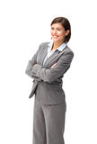 Pretty businesswoman smiling Stock Images