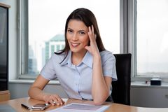 Pretty Businesswoman Smiling Stock Photography