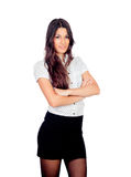 Pretty businesswoman in a stylish miniskirt Stock Image