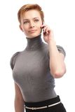 Pretty businesswoman talking on mobile Stock Photos