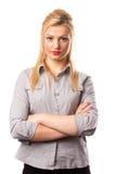 Pretty businesswoman on white Stock Photos
