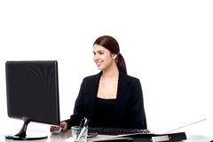 Pretty businesswoman at work Royalty Free Stock Photos