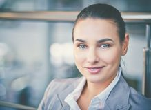 Pretty businesswoman Stock Photo