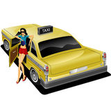 Pretty cabwoman Stock Photography