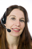 Pretty call service representative Royalty Free Stock Images