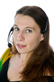 Pretty call service representative Stock Photography