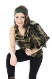 Pretty Camo Girl Stock Photo