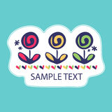 Pretty card with flowers. Pretty card design with flowers vector illustration