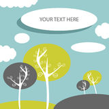 Pretty card with trees. With place for your text Stock Image