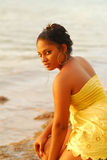 Pretty Caribbean island girl Stock Images