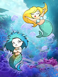 Pretty cartoon mermaid Stock Photography
