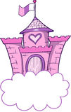 Pretty Castle Vector. Pretty Pink Castle Vector Illustration Royalty Free Stock Image