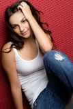 Pretty Casual Girl Royalty Free Stock Image