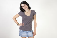 Pretty casual woman Royalty Free Stock Images