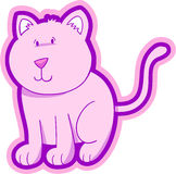 Pretty Cat Vector Royalty Free Stock Image