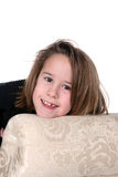 Pretty caucasian girl with missing tooth Royalty Free Stock Image