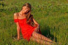 Pretty caucasian woman Royalty Free Stock Photo