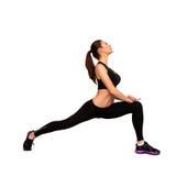 Pretty caucasian woman doing fitness Royalty Free Stock Photos