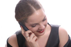 Pretty with cell phone. Pretty young lady  with cell phone Royalty Free Stock Photo