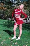 Pretty Cheerleader royalty free stock photography