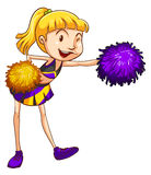 A pretty cheerleader. Illustration of a pretty cheerleader on a white background Royalty Free Stock Images
