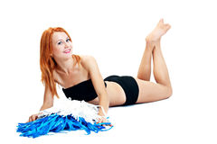 Pretty cheerleader Stock Photography