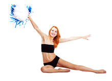 Pretty cheerleader Royalty Free Stock Image
