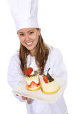 Pretty Chef Cooking Dessert Royalty Free Stock Image