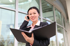 Pretty Chinese Business Woman Royalty Free Stock Photos