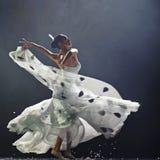 Pretty chinese dancing girl Stock Photos