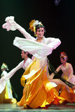 Pretty chinese dancing girl Royalty Free Stock Photography
