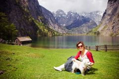 Pretty chinese girl. Taken on a travel at the lake Koenigssee in Germany Stock Images