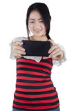 Pretty chinese girl taking selfie picture Royalty Free Stock Photo