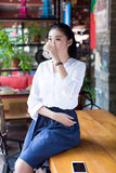 Pretty chinese girl Stock Images
