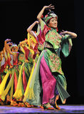 Pretty chinese national dancers Royalty Free Stock Photography