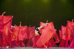 Pretty chinese national dancing girls stock photos