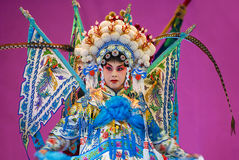 Pretty chinese opera actress Royalty Free Stock Photography