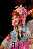 Pretty Chinese opera actress. Chinese opera Bie Dong Guan Jing performed by Sichuan Opera Theater at experimental theater May 8, 2008 in Chengdu, China Royalty Free Stock Photo