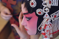 Pretty chinese opera actress Stock Image