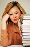 Pretty chinese student Royalty Free Stock Images