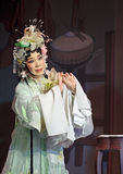 Pretty chinese traditional opera actress with theatrical costume Stock Photo