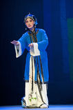 Pretty chinese traditional opera actress with theatrical costume. CHENGDU - JUN 8: Chinese Chu opera performer make a show on stage to compete for awards in 25th Stock Images