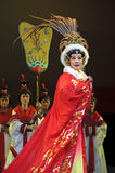 Pretty chinese traditional opera actress with theatrical costume Royalty Free Stock Photo