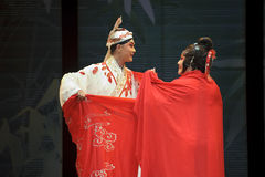 Pretty chinese traditional opera actress with theatrical costume Royalty Free Stock Photos