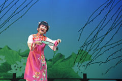 Pretty chinese traditional opera actress with theatrical costume Royalty Free Stock Image