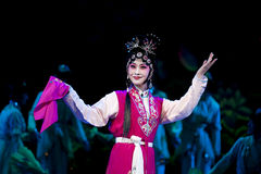 Pretty chinese traditional opera actress with theatrical costume Stock Images
