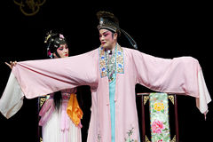 Pretty chinese traditional opera actress with theatrical costume Royalty Free Stock Images